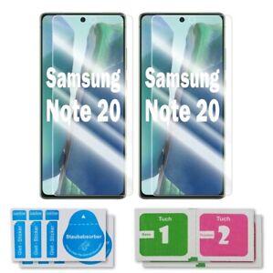 2x Samsung Galaxy Note 20 Schutzglas 9H Echtglas Panzerfolie Displayschutz