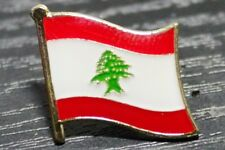 LEBANON Lebanese Metal Flag Lapel Pin Badge *NEW*