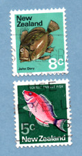 NEW ZEALAND stamps 1970 Red Parrot Fish / John Dory, 2 stamps