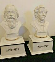 2 Musical Composer Bust Music Boxes by The San Francisco Music Box Co.