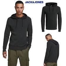 Jack & Jones Mens Badge Knitted Hoodie Casual Pullover Knitwear Hoody Jumper