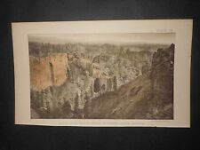 North Fork Canon White Mountain Creek Arizona 1875 Hand Colored Lithograph
