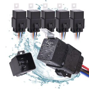 MICTUNING IP67 Relay Harness Set 12V 5-PIN SPDT Bosch Relay+WIRING 5 PACK30/40A