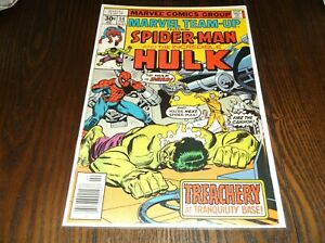 MARVEL TEAM-UP #54 SPIDERMAN AND HULK (VERY CLEAN) MARVEL COMICS FREE SHIPPING!