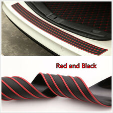 Universal Bumper Sill/Protector Guard Pad Car Offroad Rear Trunk Guard Red&Black
