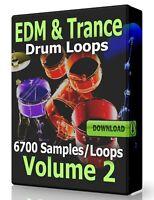 EDM & Trance Drum Loops Volume 2 Pro Tools FL Studio Ableton Logic Reaper Acid