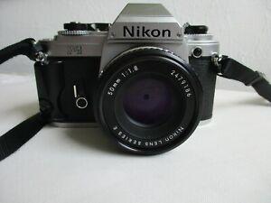 Nikon FG, analog, mit Series E 50mm 1:1,8, Ersatzteil
