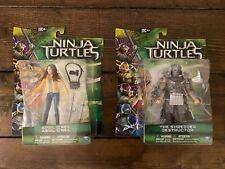 TMNT Movie LOT 2 figures Megan Fox April The Shredder Ninja Turtles