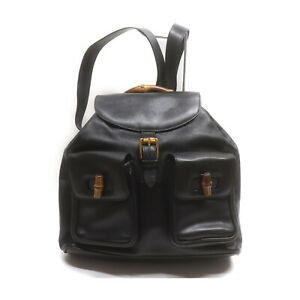 Gucci BackPack Bag  Black Leather 2208602