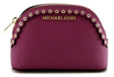 Michael Kors Make Up Bag Case Travel Pouch Pomegranate Purple Small Jet Set