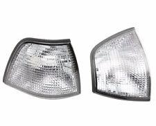 Pair Front Corner Turn Signal Clear lamp Light BMW 3  Sedan 91-98 E36 4 Door 4DR