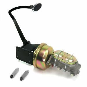 47-54 Chevy Truck 8 Single Brake Pedal kit Drum/DrumSm Oval Chr Pad cylinder