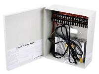 16 Channel CCTV Security Camera Power Supply Box 12 V DC 16 CH (New)