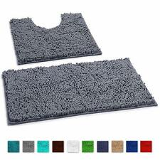 Bathroom Rugs By LuxUrux extra-Soft Plush Non-Slip Thick Shower Bath Mat set