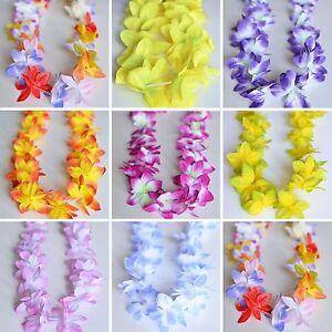2 Premium Hawaiian Orchid Leis Necklace Various Colors! Wedding Beach Luau Party