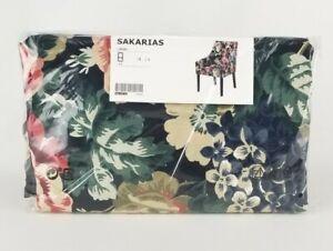 IKEA Sakarias Armchair Cover Lingbo Floral Multicolor Dark New
