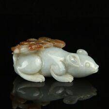 Chinese Exquisite Hand carved jadeite jade statue