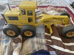 Vintage Tonka Road Grader Rare Antique Toy Pressed Metal Yellow Classic