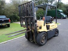 hyster 40 fork lift truck, ware house low mast,gas,side shift, 4 tone,