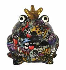 Pomme Pidou exklusive Spardose Frosch Graffiti Design III hellblau