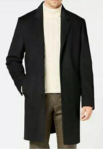Mens Michael Kors Cashmere Topcoat Black Size 40R RRP $495