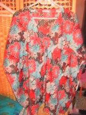 Lin dentelle superposé tunique chemisier robe 44 46 48 50 l xl xxl vert plage top