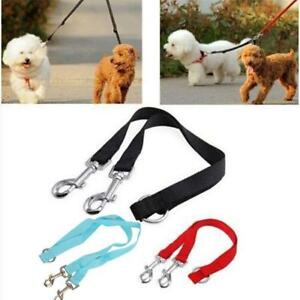 Pet Double Head Lead Leash Traction Rope For Dog Walking Jogging Splitter 8C