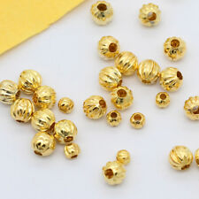 200p 3mm 5mm silver gold plated Metal Pumpkin Round spacer charms loose beads
