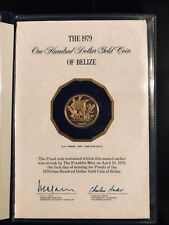the 1979 100 dollar gold coin of Belize