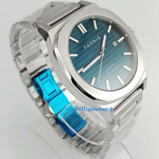 44MM parnis blue dial date luminous miyota automatic movent mens watch 2742