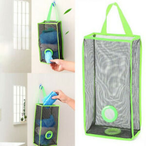 Plastic Carrier Bags Storage Holder Kitchen Household Store Shopping Hanging bag
