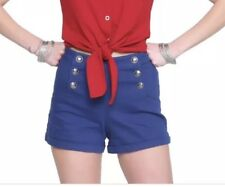 DC Comics Bombshells Retro Wonder Woman Blue Shorts Size 3 Small Costume Cosplay