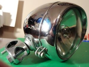 Vintage Miller Bicycle Light Headlamp Spotlight 4""