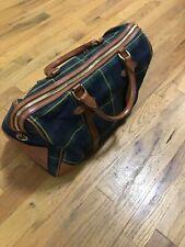 Polo Ralph Lauren Womens Plaid Small Duffle Bag
