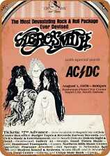 Metal Sign - 1978 Aerosmith and AC/DC in South Dakota - Vintage Look Re