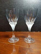 """Pair CRISTAL CRIS D'ARQUES Durand GRANVILLE Wine Glass 7"""""""
