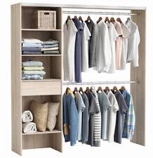 Gro�Ÿer Kleiderschrank #3003 begehbar offen Schrank Garderobe Regal Akazie NEU
