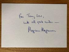 Magnus Magnusson presenter 6x4 signed autographed card Mastermind