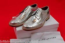 MARC JACOBS Metallic Silver Mosaic Brogue Shoes HANDMADE in ITALY BNIB EU40 UK6