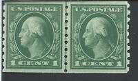 ORLEY STAMPS US SCOTT #412 Coil Line Pair, MNH / OG XF-S