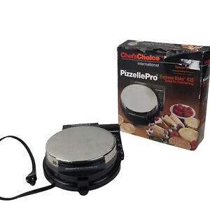 Chefs Choice Pizzelle Pro Express Bake 835 Cannoli Italian Waffle Cookie Maker