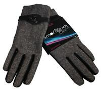 ISO Isotoner Winter Gloves SmarTouch Texting Touchscreen Black Tweed XL New NWT