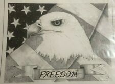 American Freedom pen and ink drawing by High Desert artist Mark Brannon