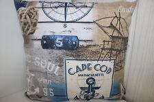 Kissenhüllen  alle Größen + Formen Dekostoff, Baumwollmischung Maritim II