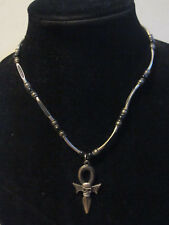 FASHION JEWELRY HALLOWEEN SILVER METAL BEAD CHAIN GOTHIC SKULL CROSS NECKLACE