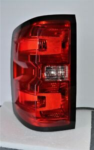 OEM Chevy Silverado Rear Tail Light Driver Side 2014-2018 Blemished / Cracked