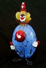 Murano Italy hand blown glass Clown, 9 inches