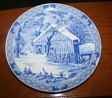 """The Old Homestead In Winter Currier & Ives Collector's Plate 10"""" MINT"""