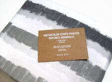 """West Elm Multi Colors Cotton Water Color Stripe Window Drape Panel 48"""" X 108""""New"""