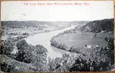 1916 McConnelsville/Malta, Ohio OH Post Card: The Long Reach - w/RPO Postmark